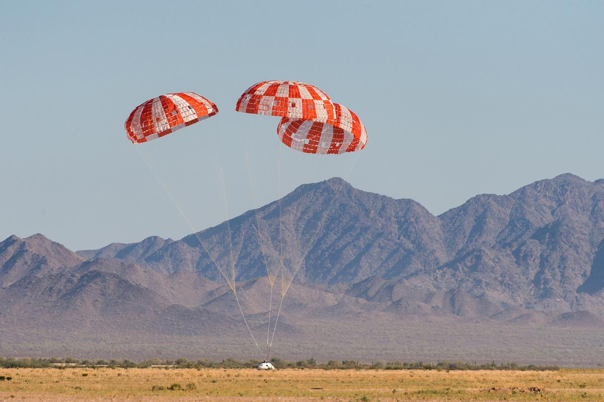 Tests this week werethe final step to qualify Orion's parachute system for flights with astronauts