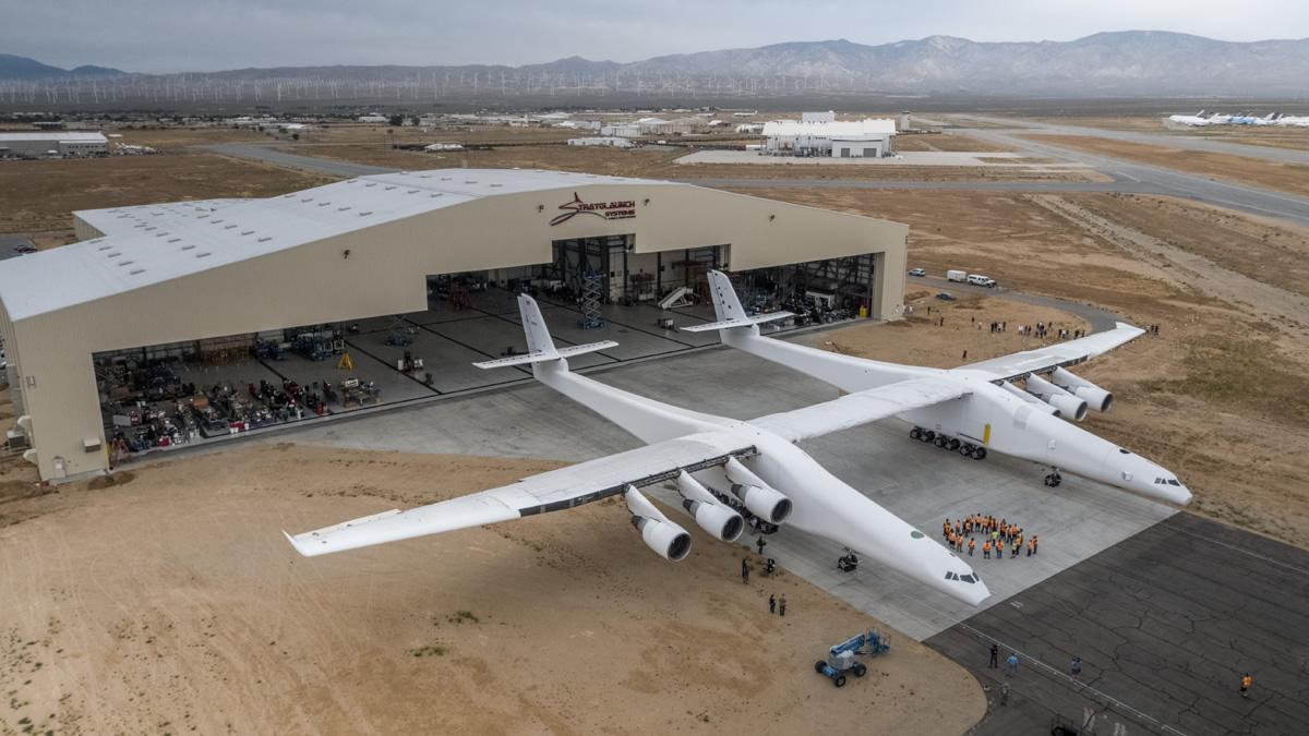 The world's largest plane is out of its hangar for the first time