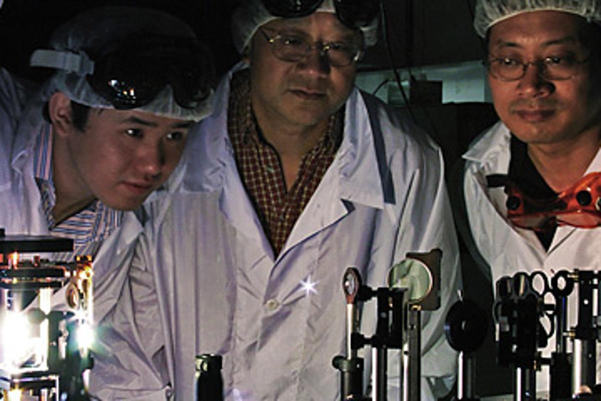 Members of the Rensselaer terahertz sensing research team (Photo: Rensselaer/Daria Robbins)
