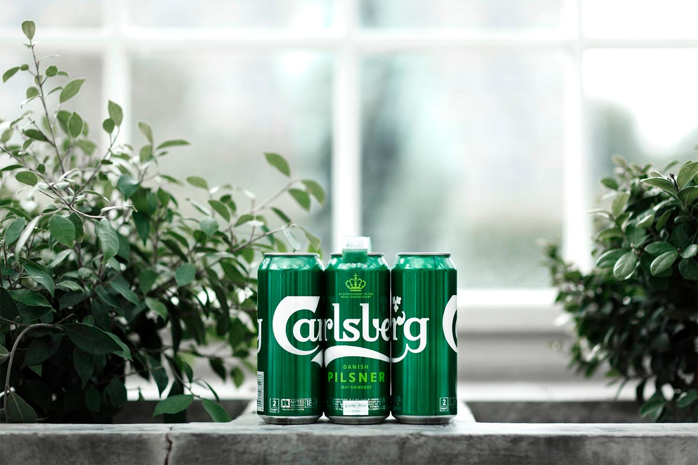 Along with the Snap Pack, Carlsberg is introducing new label inks, glass bottle coatings and caps to make its products more sustainable