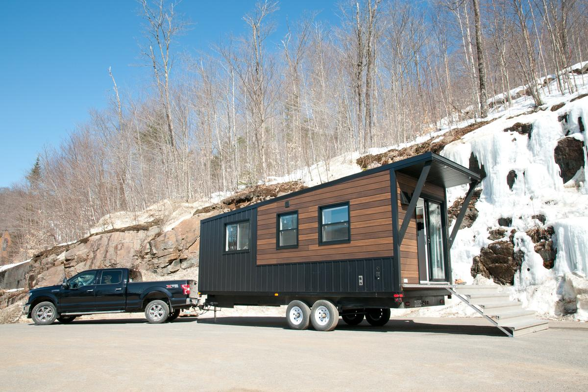 The Nomad is a compact new tiny house by Minimaliste that measures 24 ft (7.3 m) and is designed for off-the-grid travel