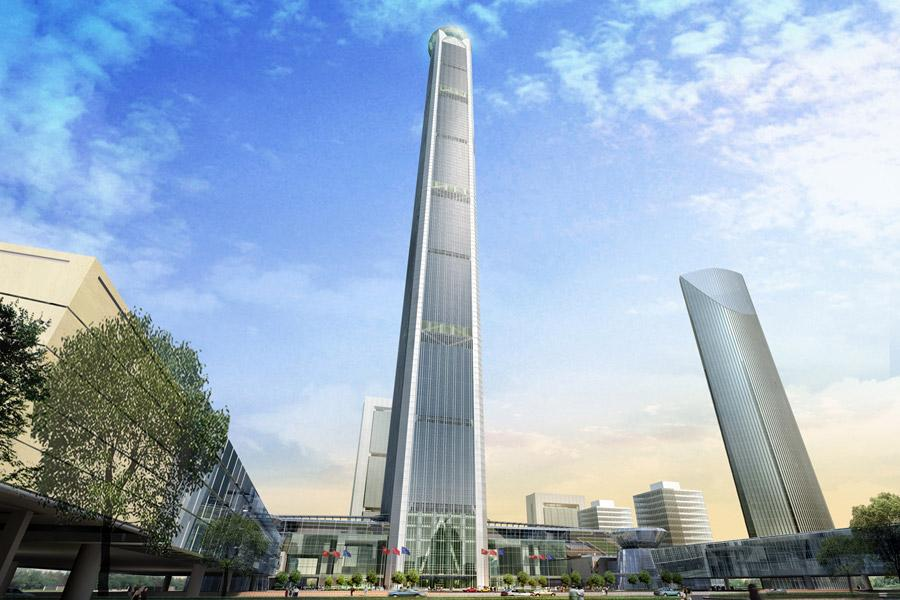 The main body of the tower will be given over to rental office space
