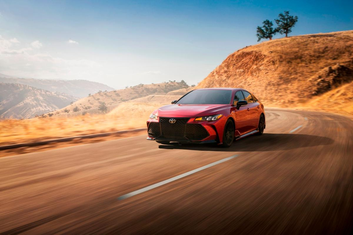 Going with exterior changes, more changes under the skin of the Avalon and Camry sedans comes through TRD engineering and testing at Toyota's proving grounds in Arizona, Japan, and Texas