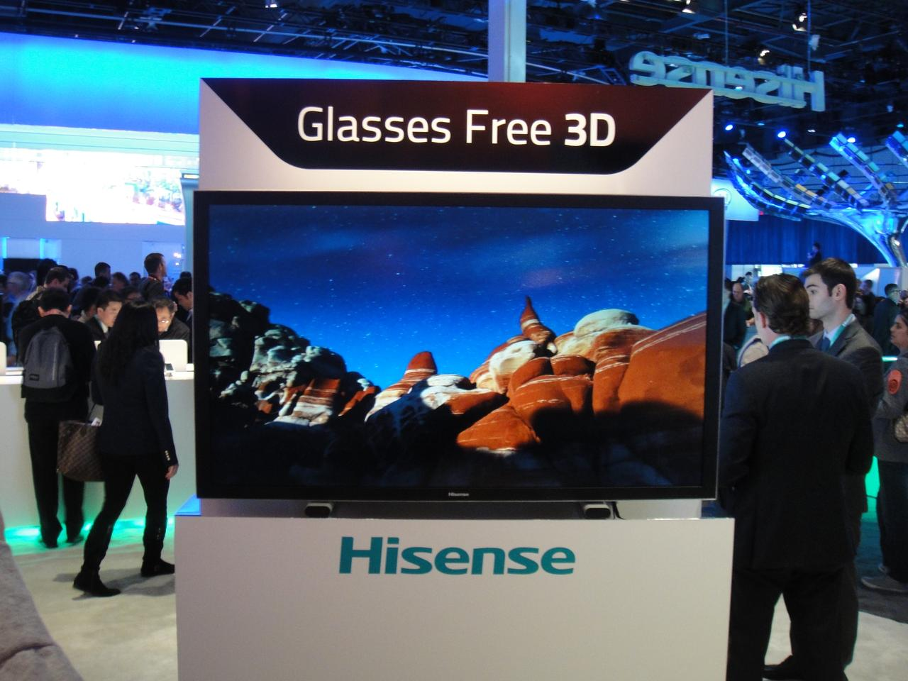 Hisense revealed new advancements in their own glasses-free 3D technology at CES with the 60-inch GF60XT980 television concept
