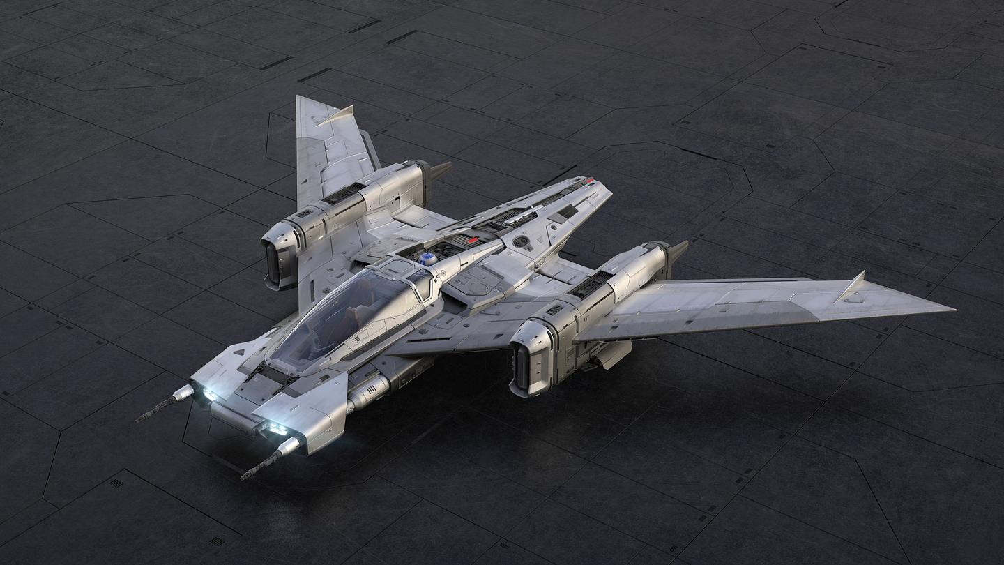 Porsche is hoping you'll think of sports cars when you see the Tri-Wing S91X Pegasus Starfighter