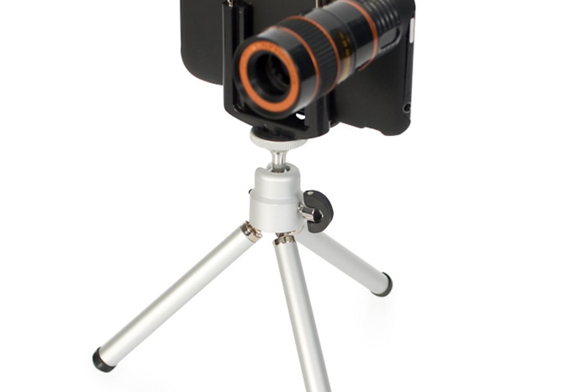 The Eye Scope is an 8x optical zoom lens for use with iPhone cameras (Photo: Firebox)