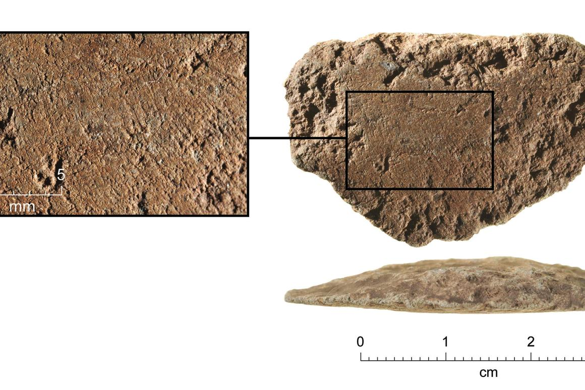 Two thirds of the world's population now carries a mobile phone but this was state-of-the-art technology just 35,000 years ago. This is the earliest ground-edge implement ever found.