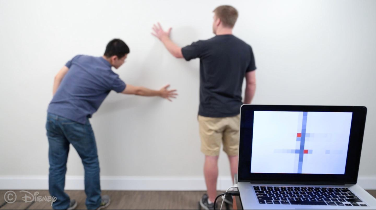 Researchers at CMU and Disney Research have come up with a way to turnregular dumb walls into smart ones