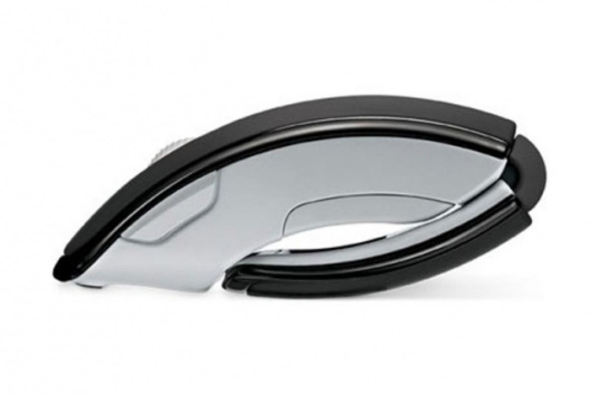 Microsoft's Arc Mouse all folded up and ready to travel