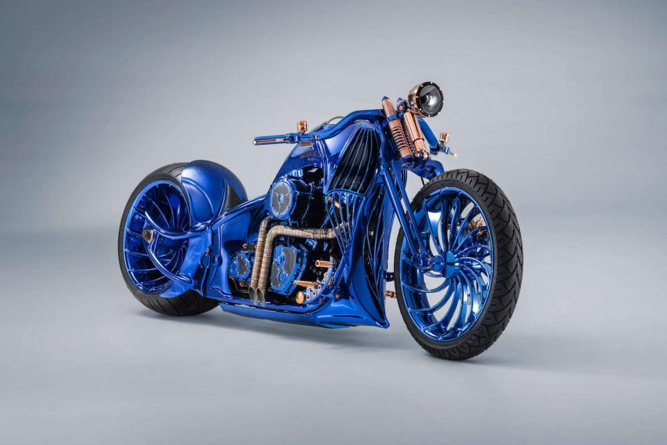 Bucherer's Harley-Davidson Blue Edition: fully handmade custom rims