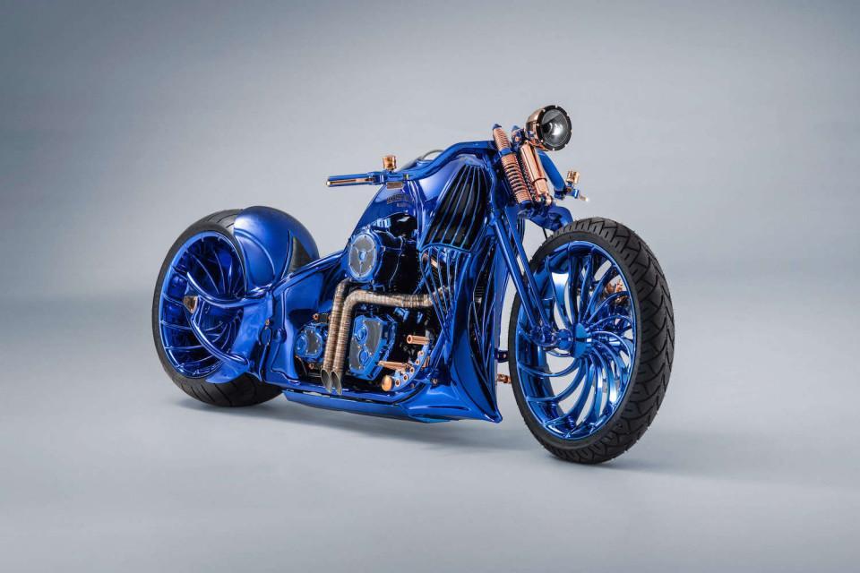 Bucherer's Harley-Davidson Blue Edition: fully handmade custom rims