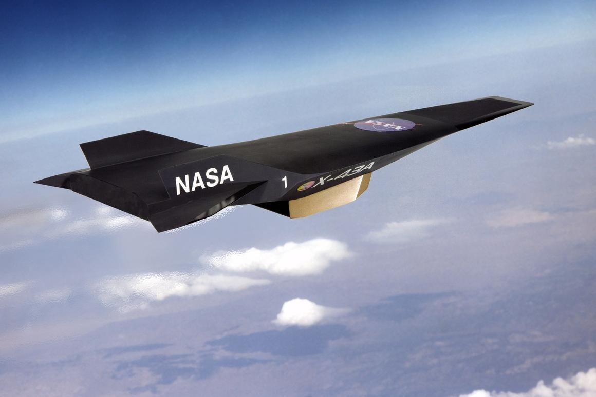 Artist's concept of the X-43A