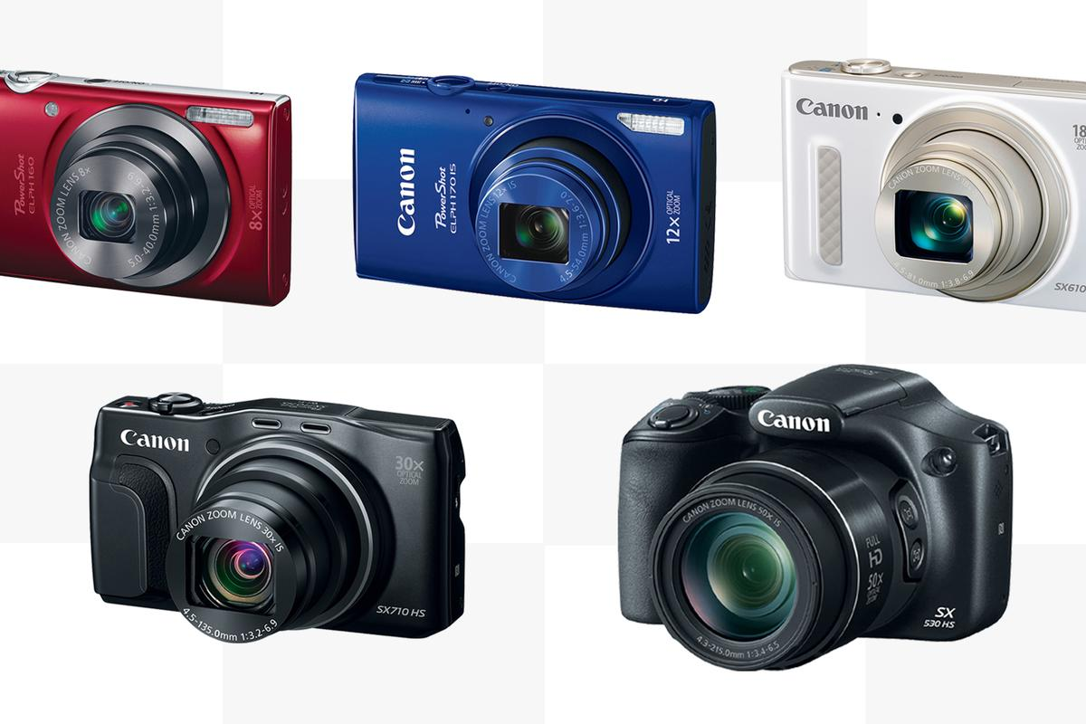 Canon has revealed five new PowerShot cameras