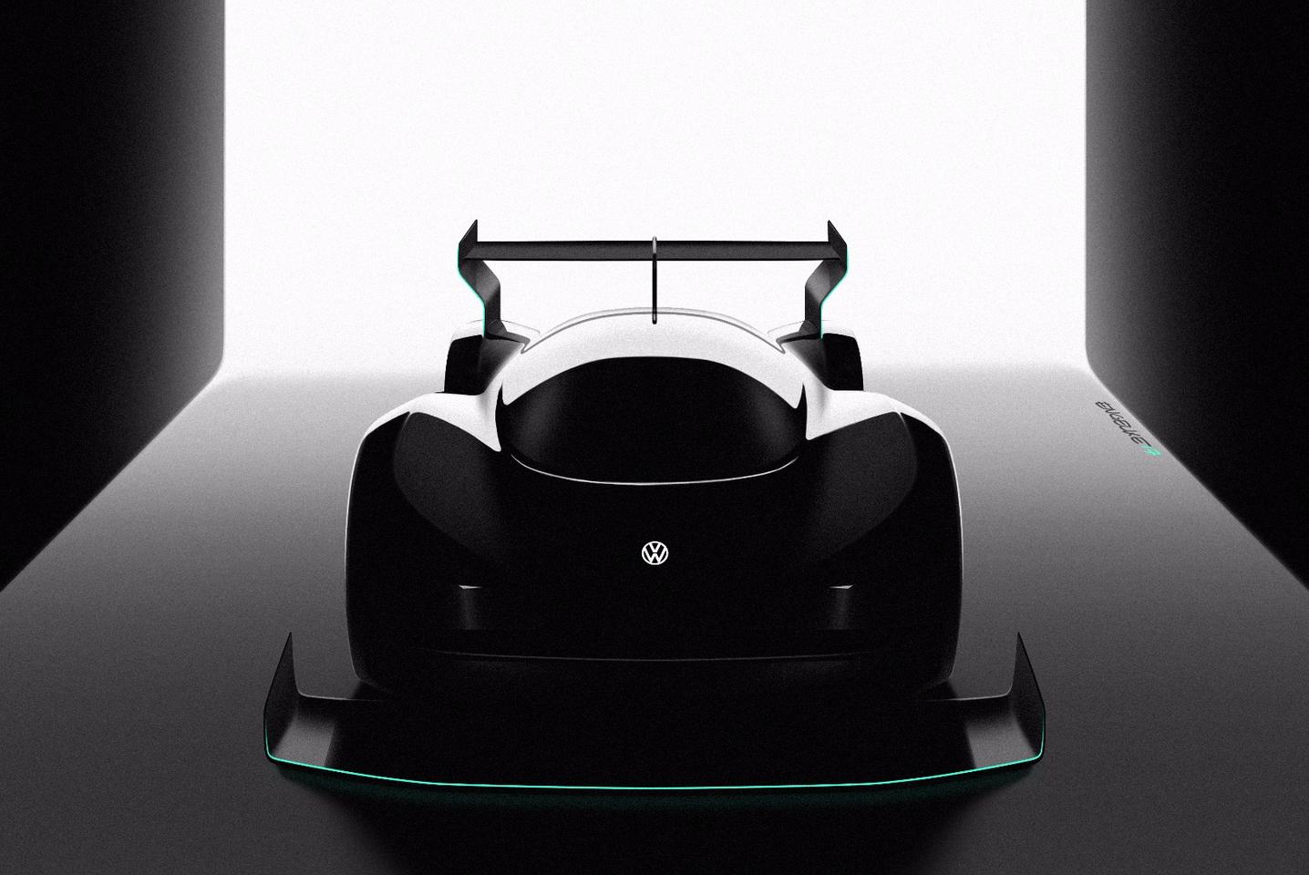 Volkswagen hasn't revealed a whole lot about its new all-electric racing prototype