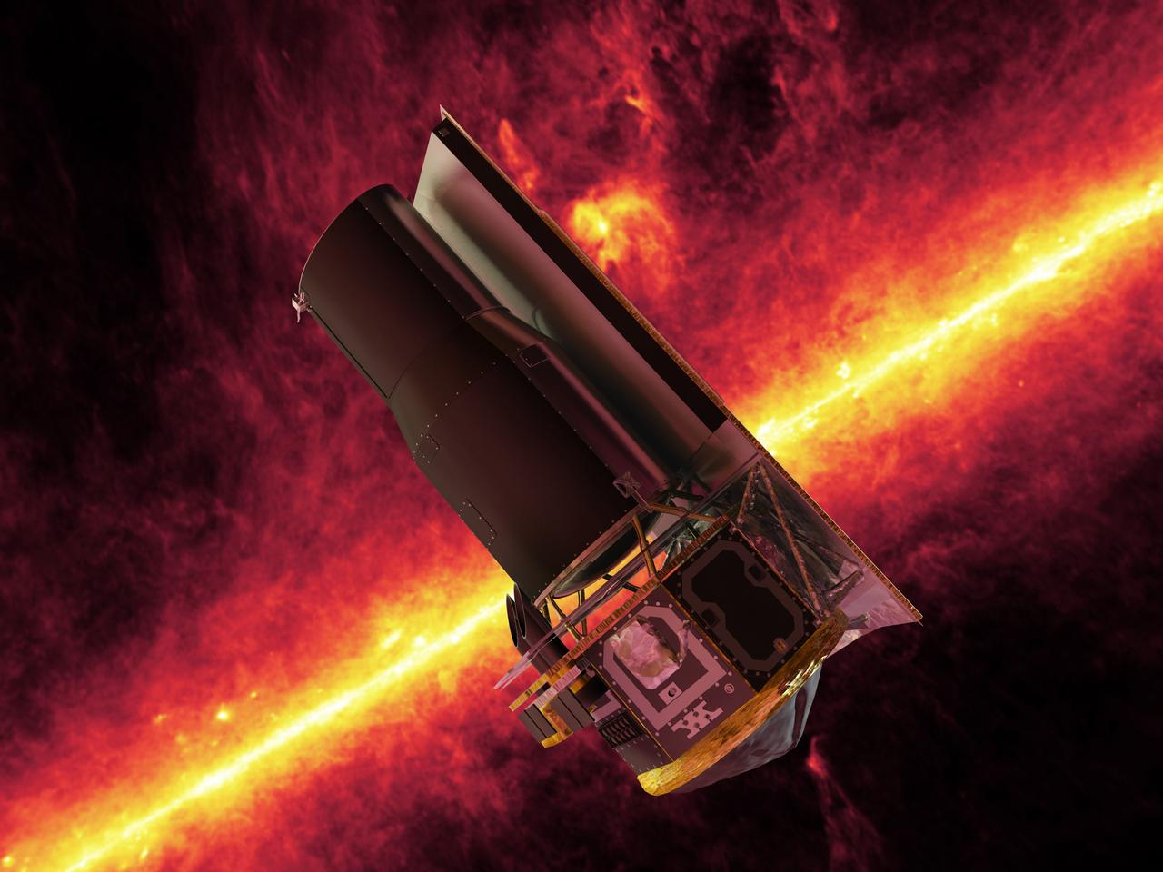 The Spitzer space telescope provided data that helped determine the brown dwarf's properties (Image: NASA)
