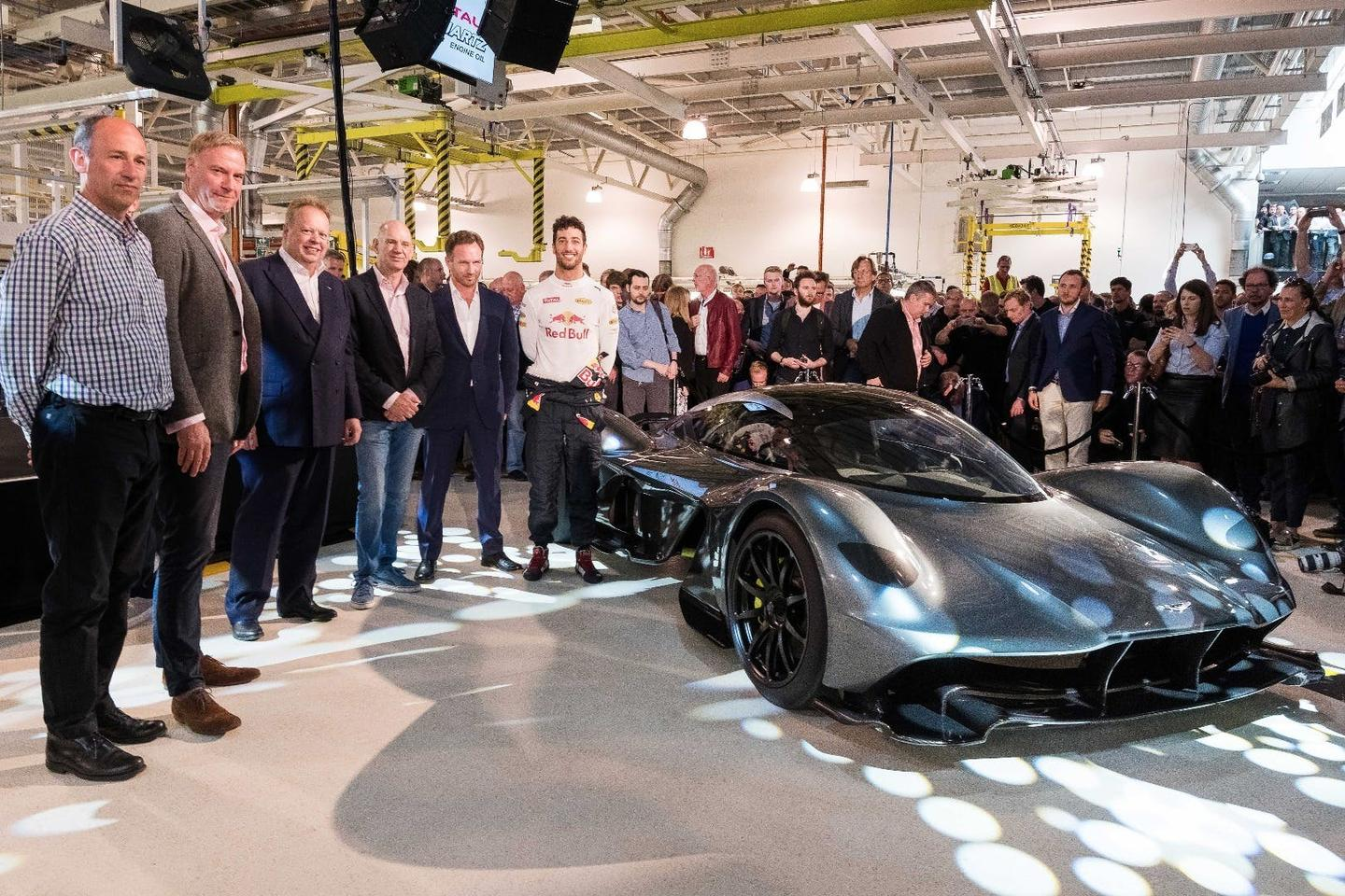 The AM-RB 001 at its styling reveal in London