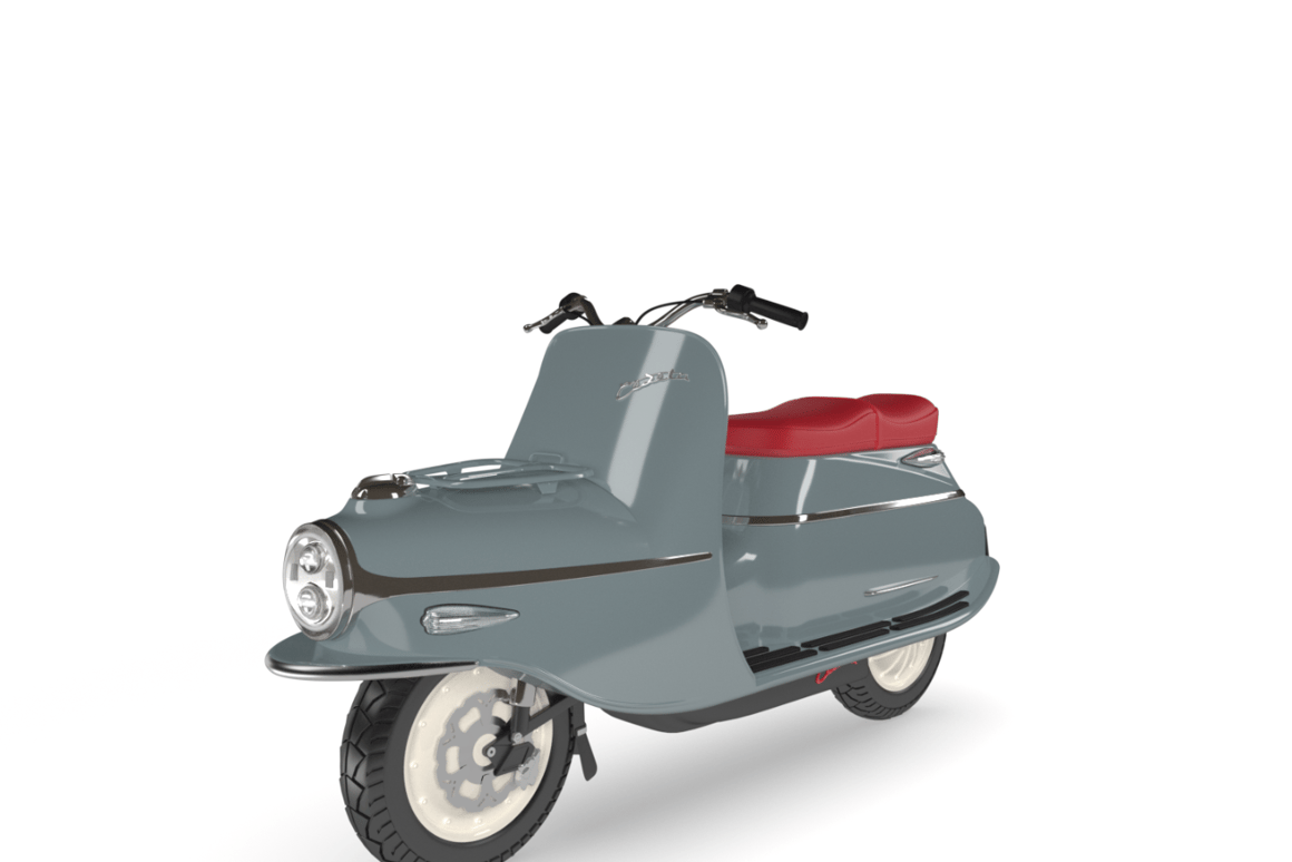 The limited-production, high-end electric Čezeta Type 506 scooter reproduces an icon of the past
