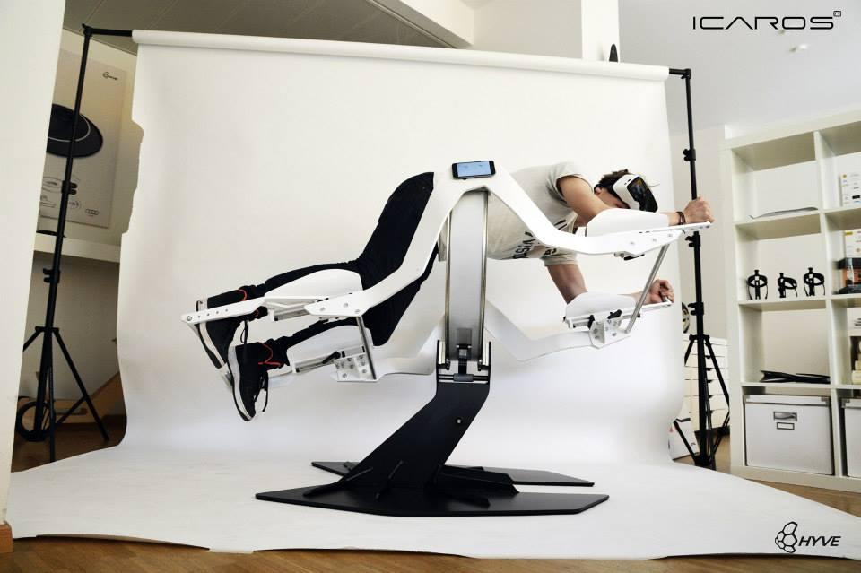 The Icaros machine is designed to work muscles all over the body while you're engaged in gameplay