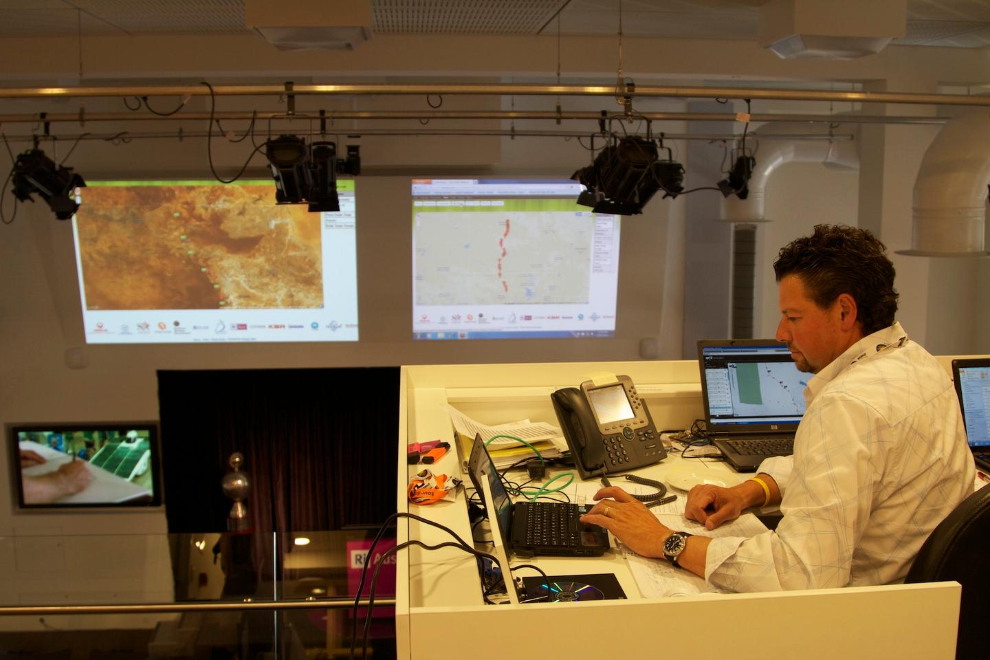 Mission Control in Adelaide during the 2011 World Solar Challenge (Photo: gizmag)