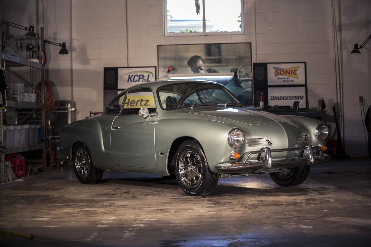 The motor of Minddrive's electric Karmann Ghia will only engage if it gets enough tweets, likes and shares
