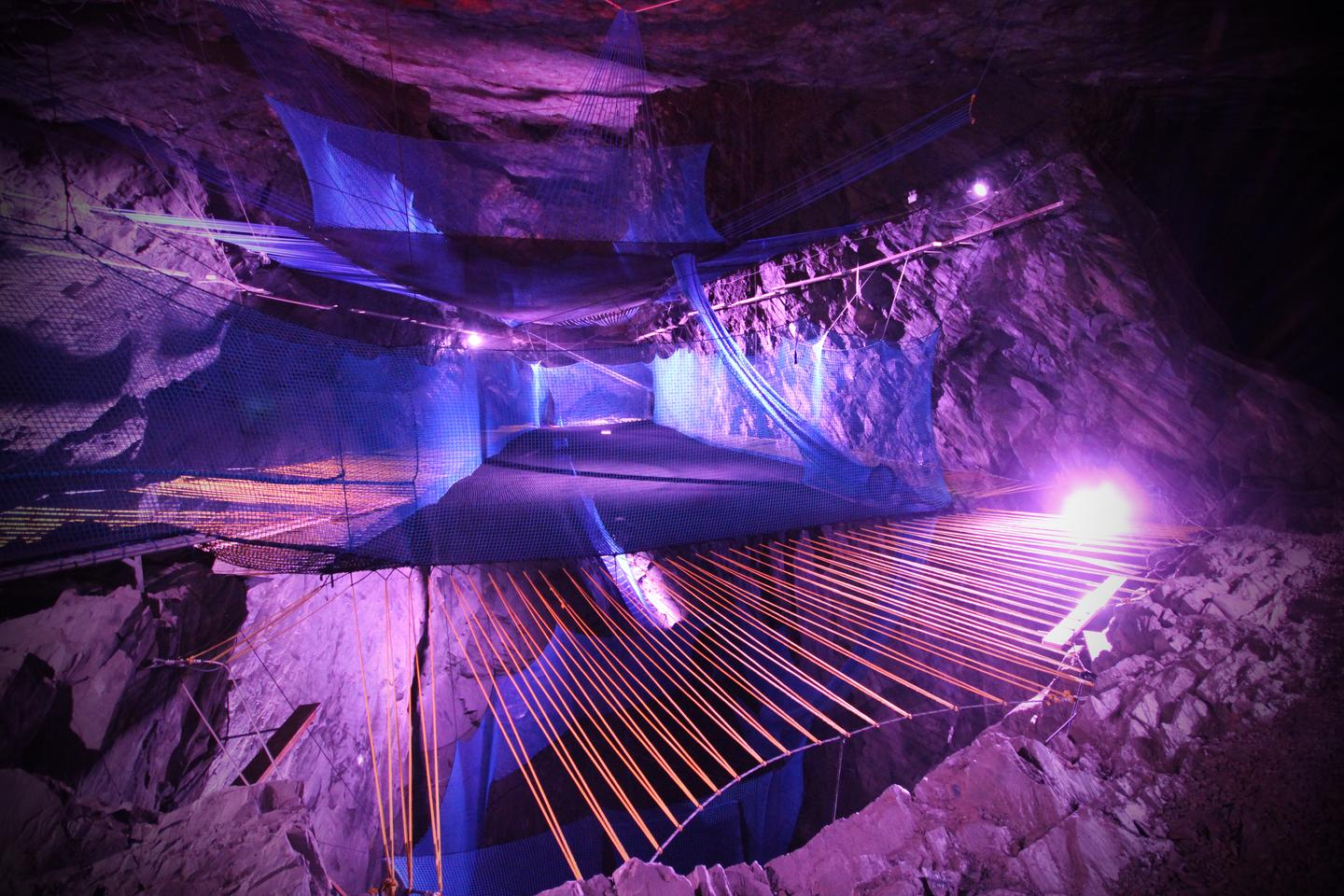 Bounce Below is the only underground trampoline in the world