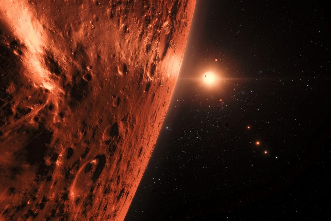 The planets in the TRAPPIST-1 system are quite close to their parent star