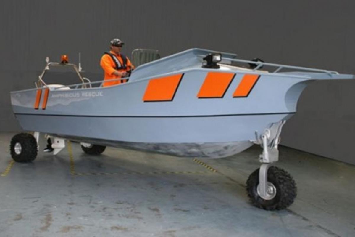 The New Sealegs Amphibious Rescue Craft