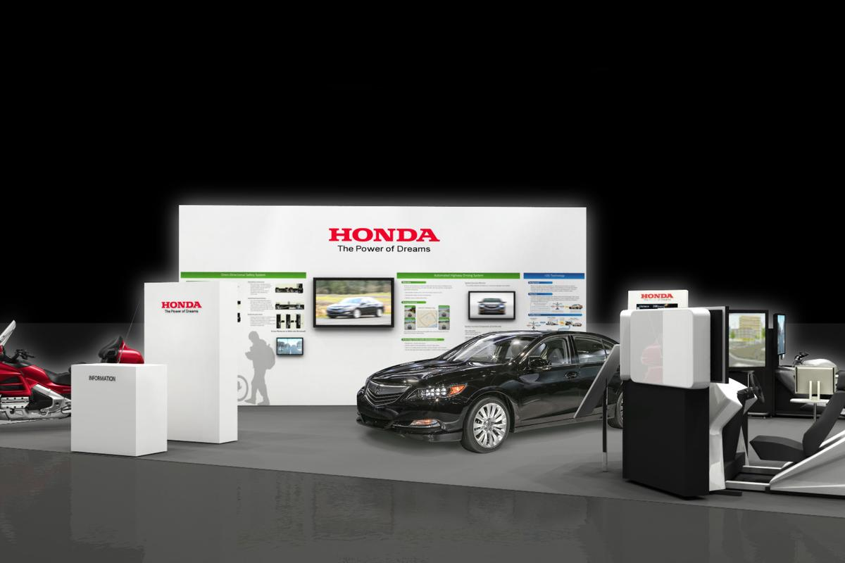 Honda's booth at the ITS World Congress