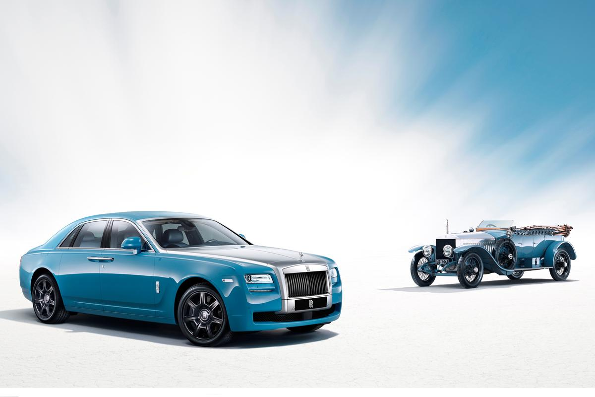The Rolls-Royce Alpine Trial Centenary Collection Ghost will appear with one of the original 1913 Silver Ghosts