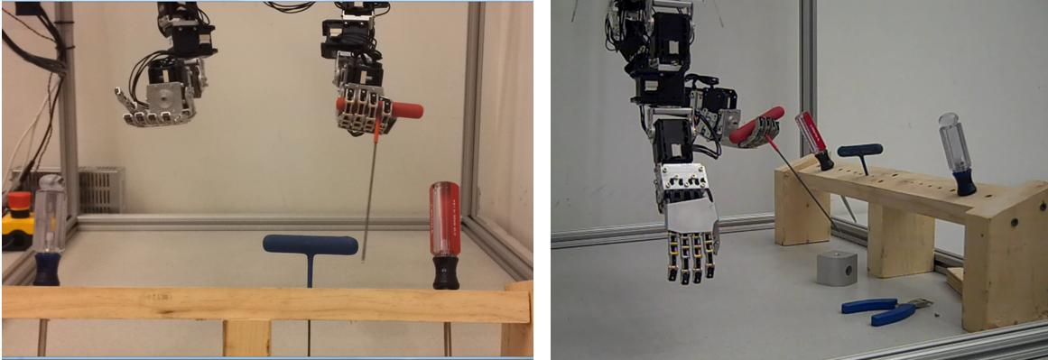 The UAV robot arms include realistic robot hands