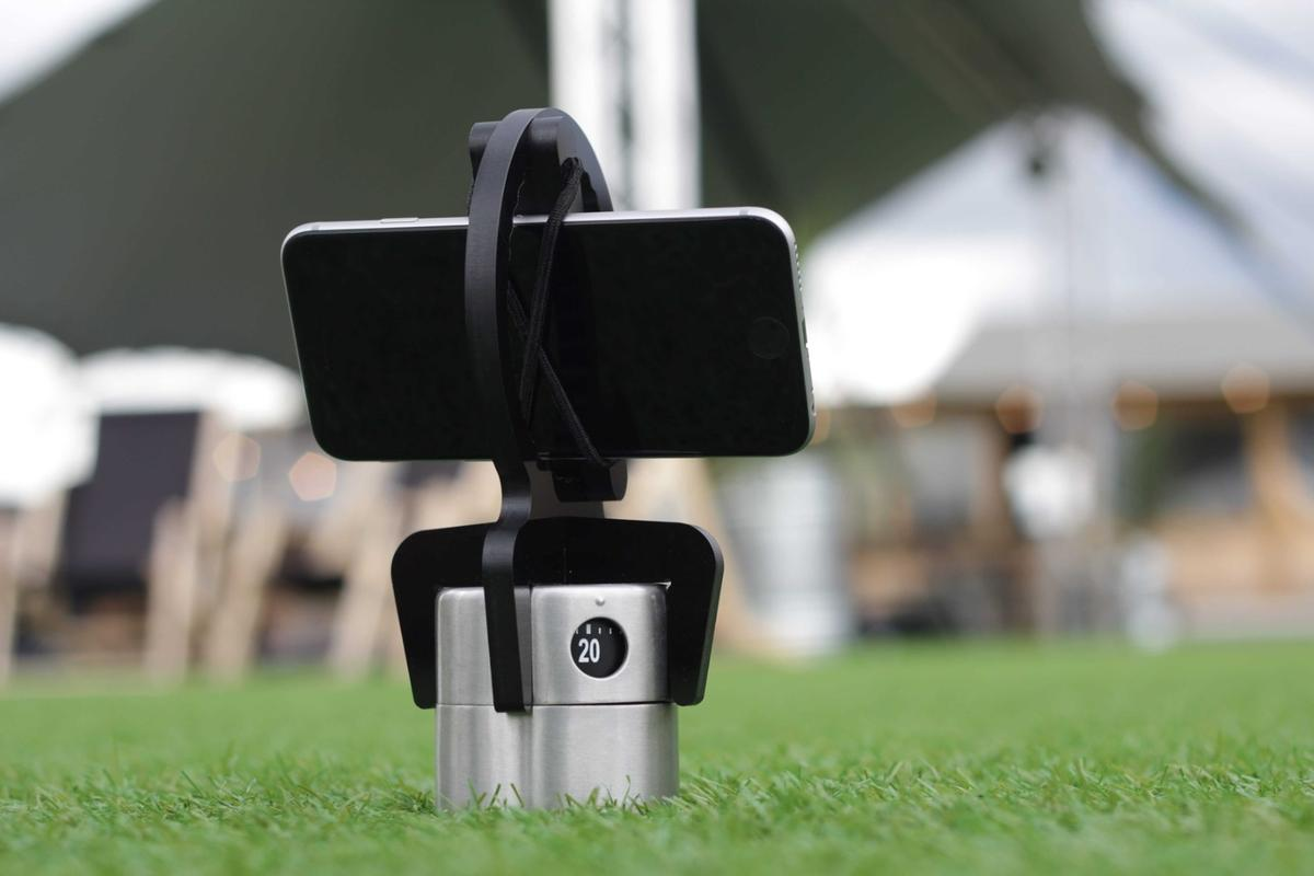 The Hobie holds a smartphone is held in place using bungees