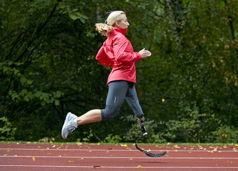 Amputee triathlete Sarah Reinertsen, who helped design the Nike Sole