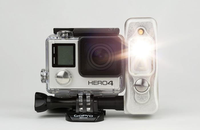 Light & Motion's Sidekick is designed for use with the GoPro Hero actioncam