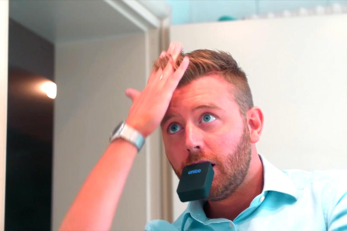 In the three seconds it takes to clean your teeth you can touch upyour hair