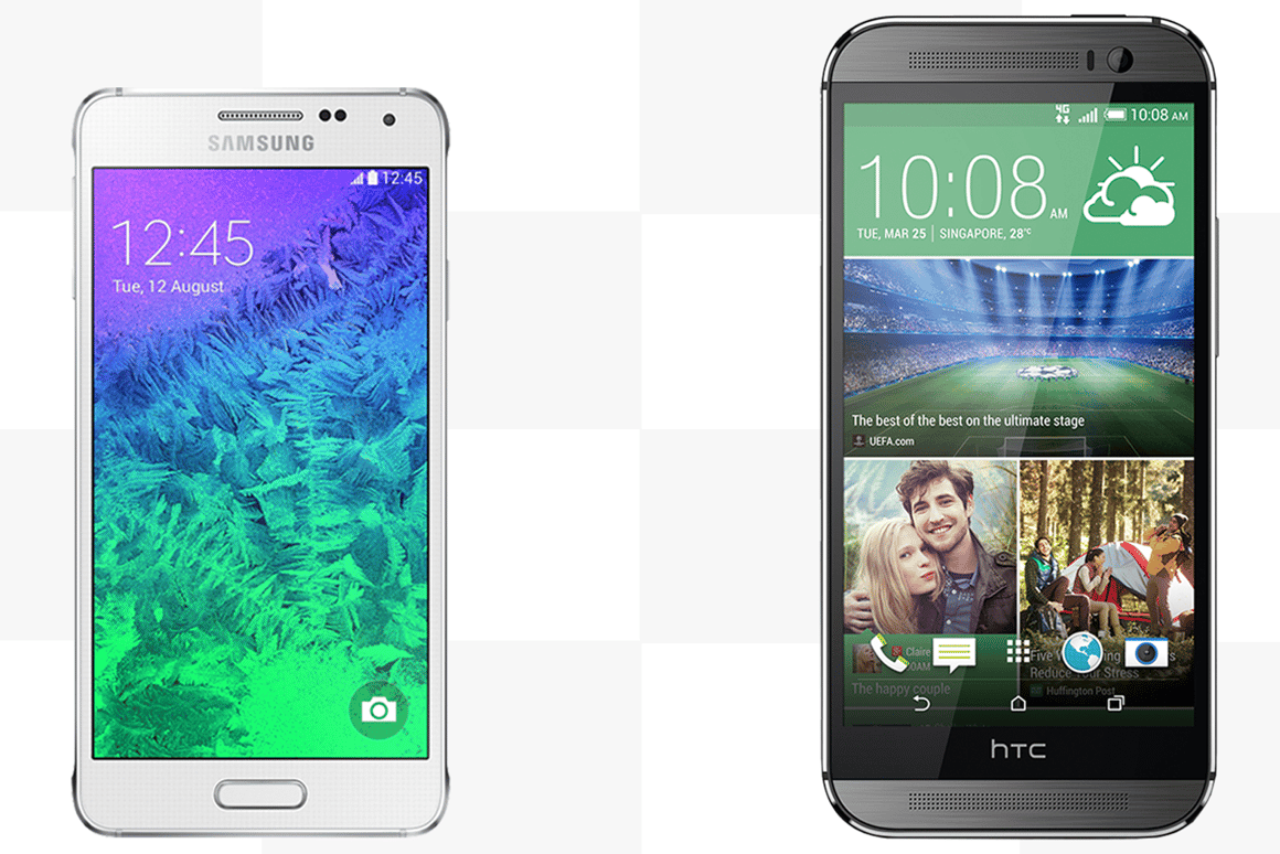 Gizmag compares the features and specs of the Samsung Galaxy Alpha and HTC One (M8)
