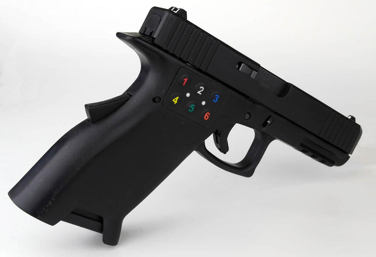 The3D-printed functional prototype of the Smart 2™ 9mm pistol