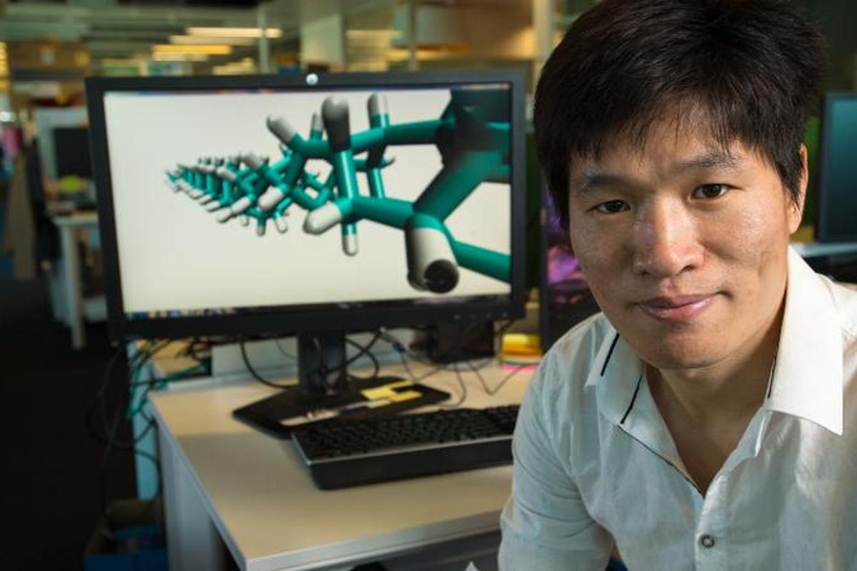 Dr Haifei Zhan led a research team in modeling the energy density of diamond nanothread bundles