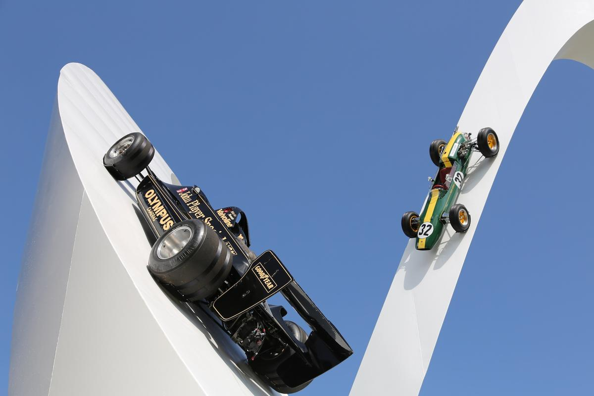 Lotus was the featured marque at Goodwood 2012, and the theme of the Festival of Speed sculpture