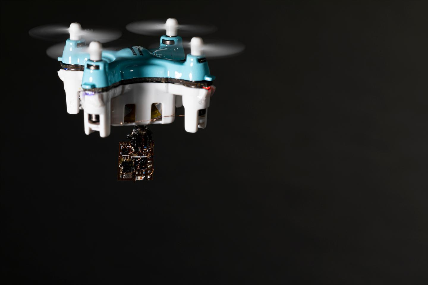 Small drones could be deployed to drop the sensors where needed, such as forests and farms