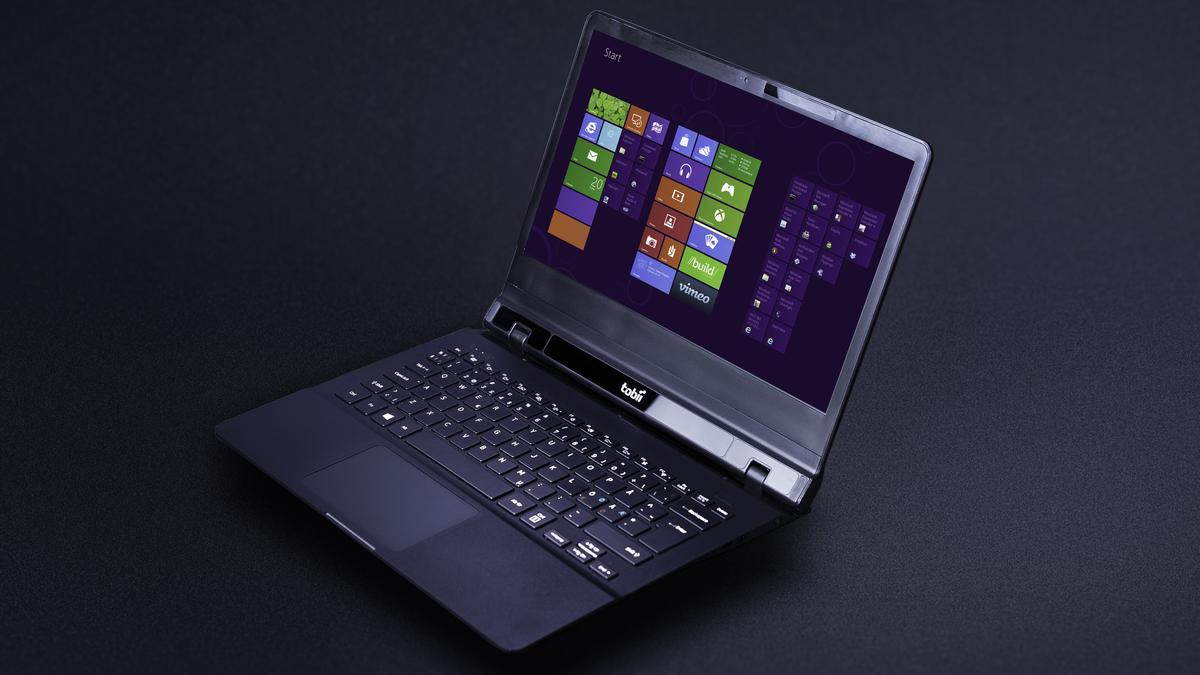 Tobii's latest prototype laptop with integrated eye tracking technology and Synaptics ForcePad