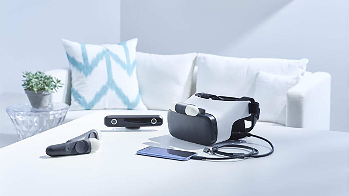 The Japan-only HTCLink, with PSVR-esque camera and motion controls