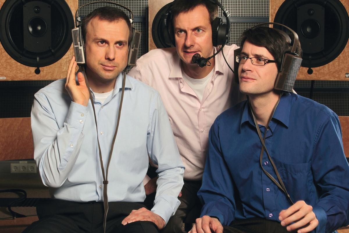 Fraunhofer's Marc Gayer, Manfred Lutzky and Markus Schnell (L to R), developed AAC-ELD to improve the quality of communication systems (Image: Dirk Mahler)