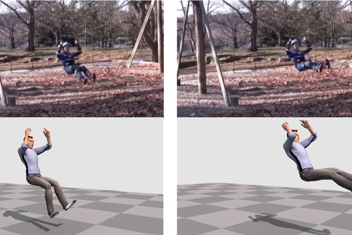 The wearable camera system can be used to capture the motion of an actor in just about any environment (Image: DRP, CMU)