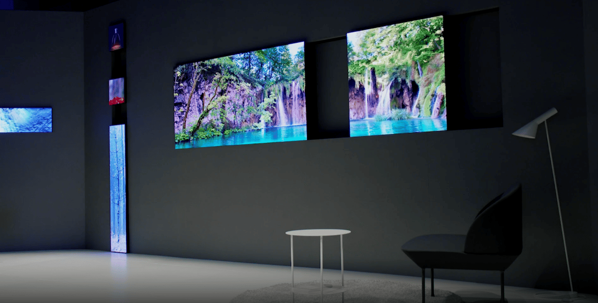 Samsung experiments with weird-shaped TVs thanks to its modular Micro LED display technology