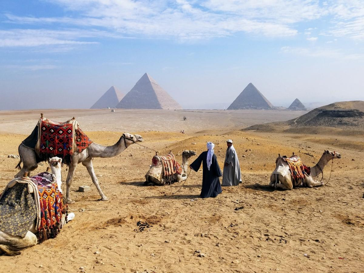 1st place winner in the Travel & Adventure category. Giza Pyramids, shot on a Samsung Galaxy,model unknown