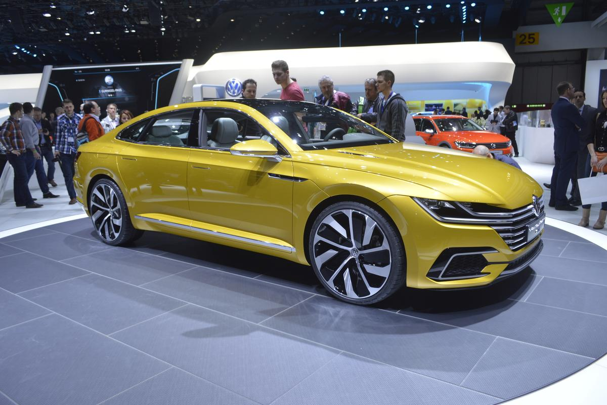 The VW Sport Coupe Concept GTE, stylish, fast and economical (Photo: C.C. Weiss/Gizmag.com)