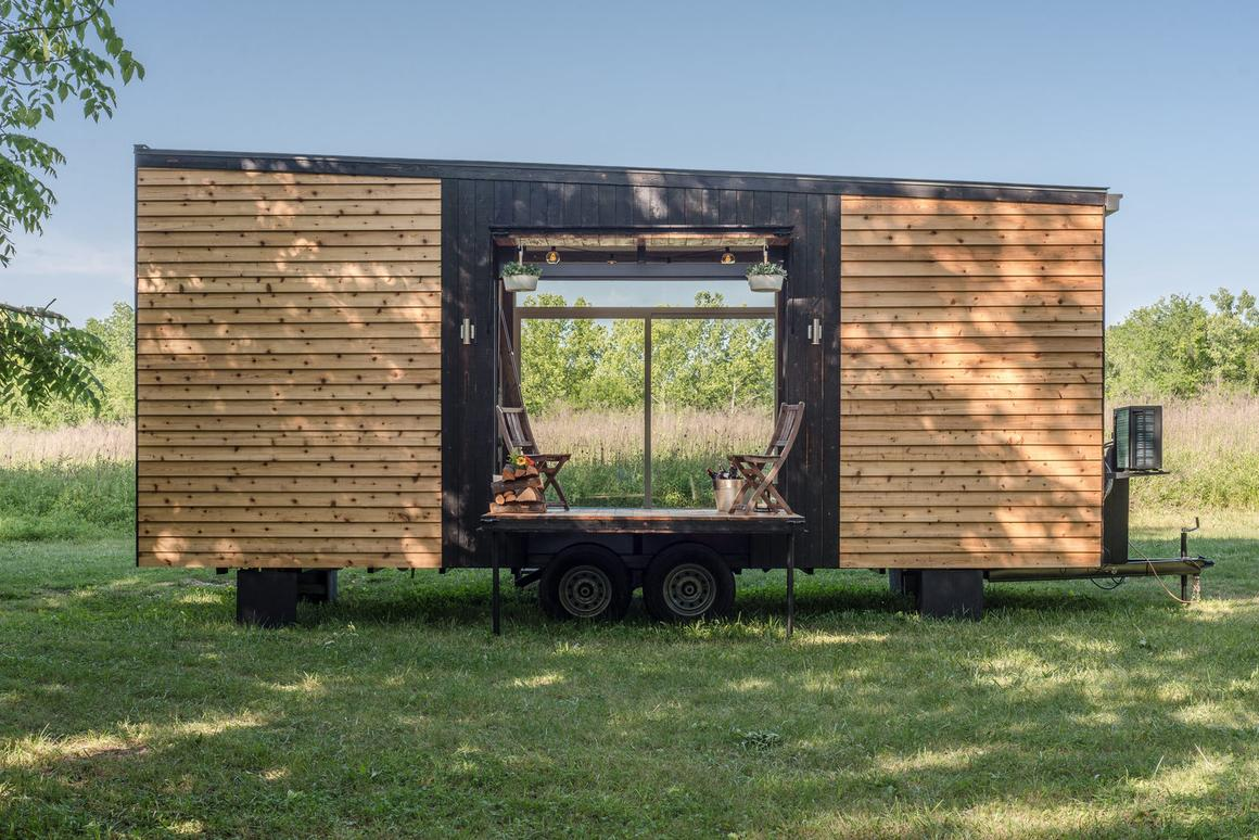 The Alpha Tiny House starts at US$79,000,but a turnkey model exactly as pictured with all appliances, etc, is currently for sale at $95,000