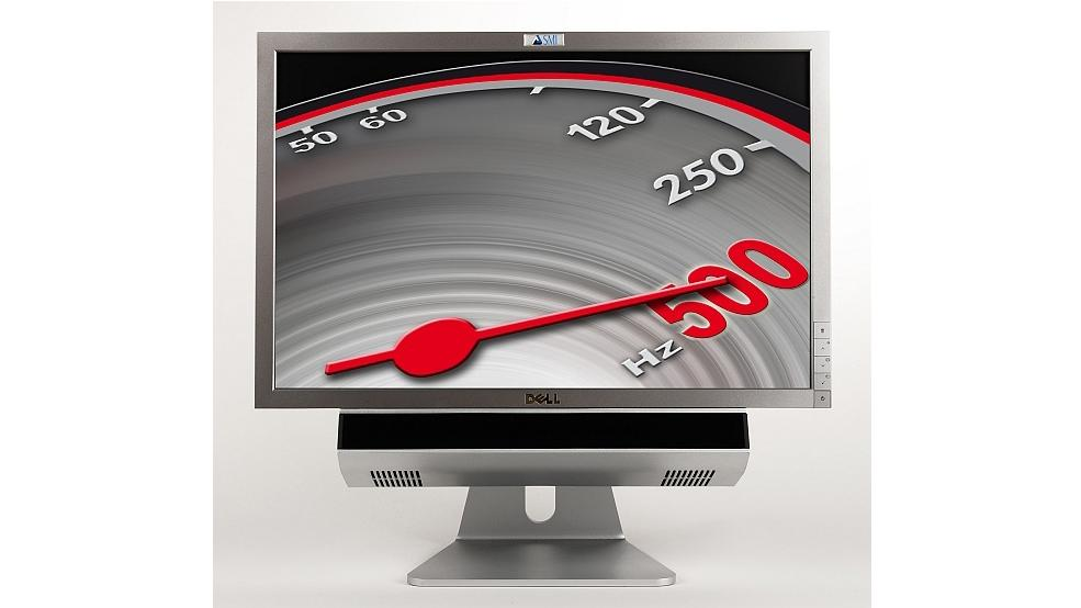The SMI RED500 remote eye tracking system can be used as an all-in-one system with a 22-inch monitor