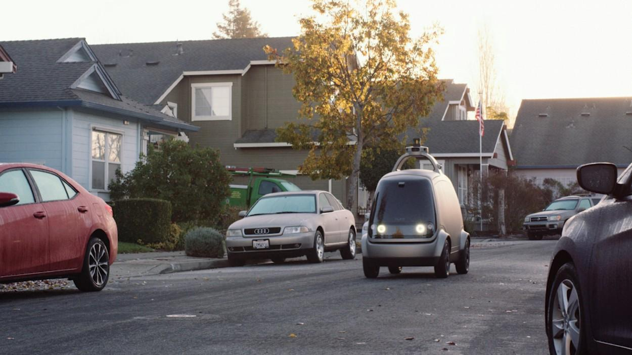 The R1 self-driving electric delivery pod underwent testing on thestreets of Scottsdale, Arizona, in November, 2018