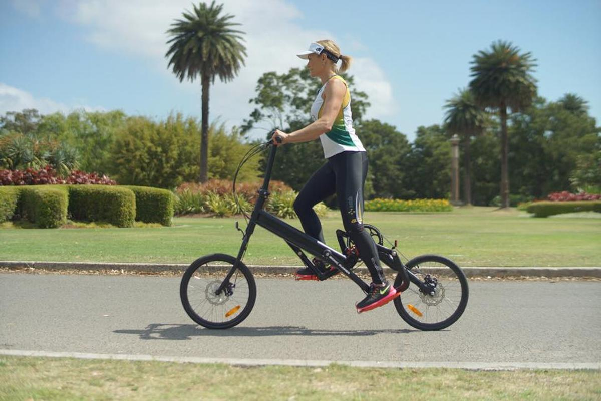 It may look like it's made for cycling without sitting down, but the Bionic Runner is designed more for running without receiving impact injuries